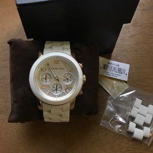 Michael Kors woman's white watch